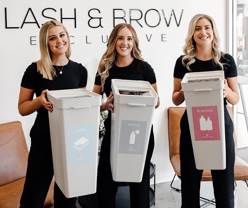 sustainable lash brow salon burleigh heads